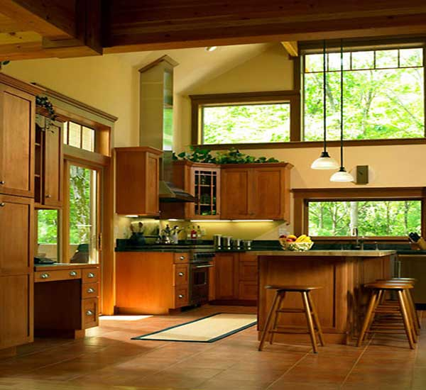 Sunset solar bronze anderson window film for Craftsman house interior